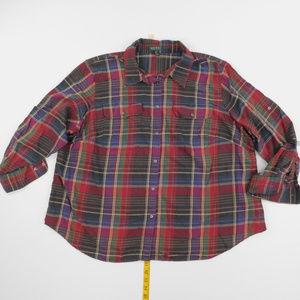 Lauren Ralph Lauren 3X Red Button Down  P-16-91624